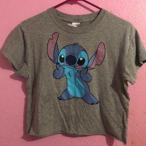 ♡ cropped stitch shirt ♡